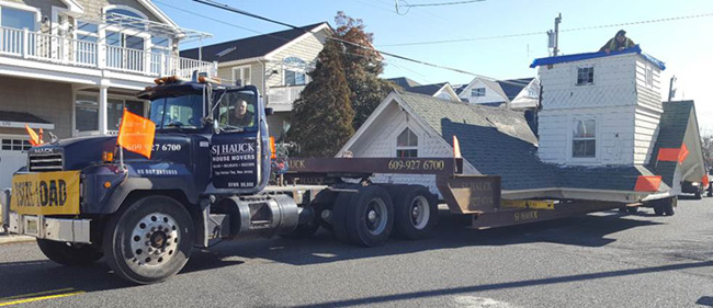 Transportation of Avalon home at 254 Sixth Street